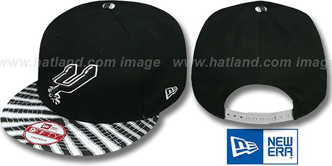 Spurs 'ZUBAZ SNAPBACK' Adjustable Hat by New Era : pictured without stickers that these products are shipped with