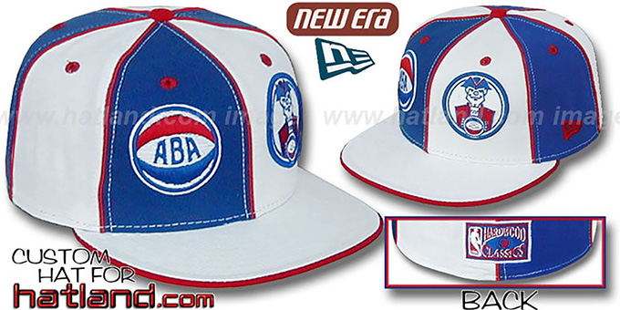 Squires ABA 'DOUBLE WHAMMY-3' Royal-White Fitted Hat : pictured without stickers that these products are shipped with