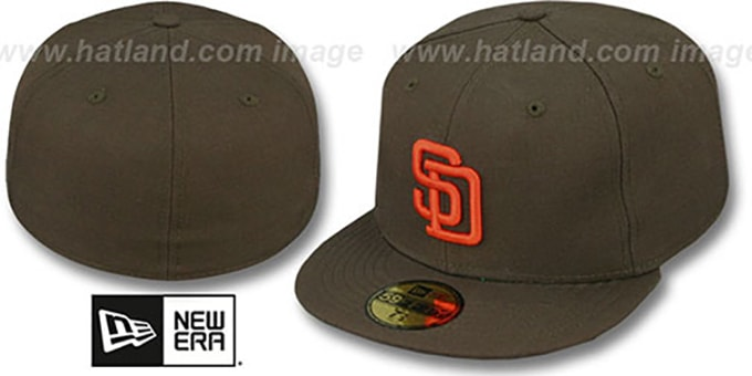 San Diego Padres 'COOP' 85-90 Game Hat by New Era : pictured without stickers that these products are shipped with