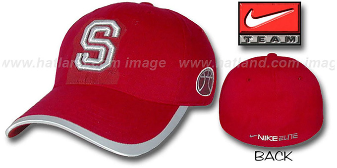 Stanford 'ELITE' Basketball Hat by NIKE - cardinal : pictured without stickers that these products are shipped with