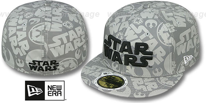 Star Wars 'COMIC REFLECT' Fitted Hat by New Era : pictured without stickers that these products are shipped with