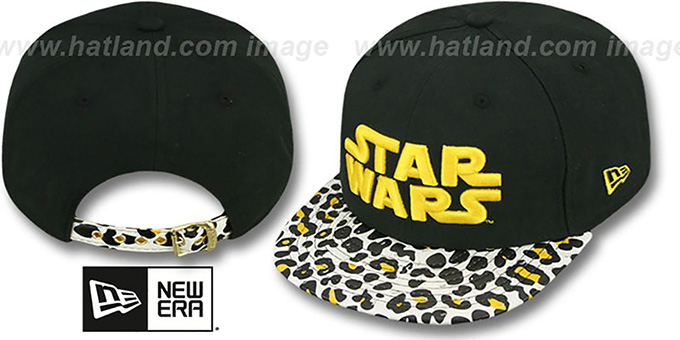 Star Wars 'OSTRICH-LEOPARD STRAPBACK' Hat by New Era : pictured without stickers that these products are shipped with