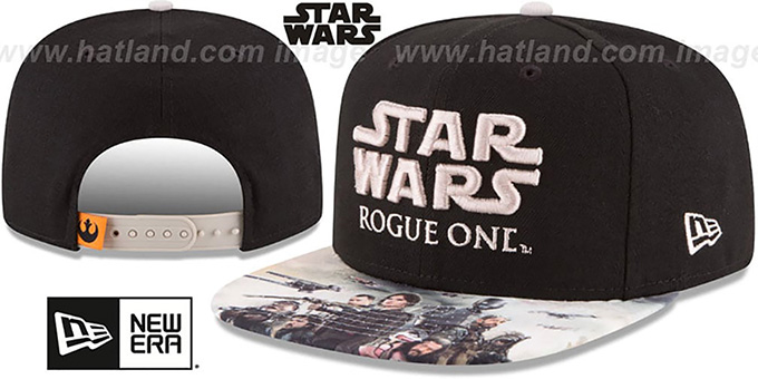 Star Wars 'ROGUE ONE HERO SNAPBACK' Black Hat by New Era : pictured without stickers that these products are shipped with
