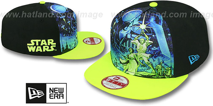Star Wars 'TEAM STANCE SNAPBACK' Hat by New Era : pictured without stickers that these products are shipped with