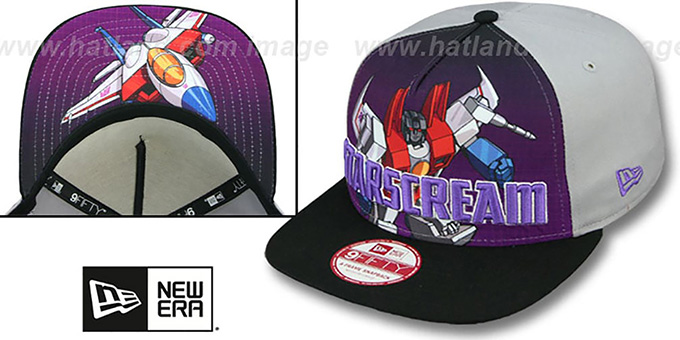 Starscream 'SUB-RIVAL SNAPBACK' Adjustable Hat by New Era : pictured without stickers that these products are shipped with