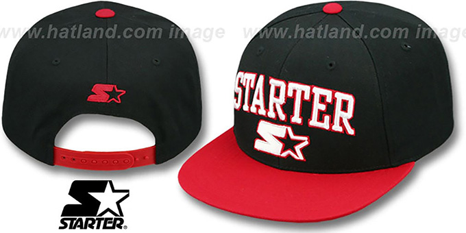 Starter 'ARCH-LOGO SNAPBACK' Black-Red Hat