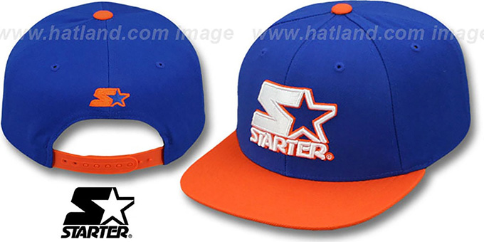 Starter 'S-STAR WORDMARK SNAPBACK' Royal-Orange Hat