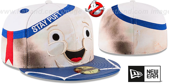 Stay Puft 'CHARACTER FACE' Fitted Hat by New Era : pictured without stickers that these products are shipped with