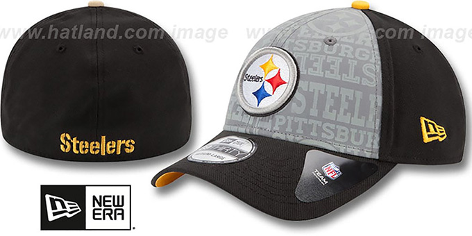 Steelers '2014 NFL DRAFT FLEX' Black Hat by New Era : pictured without stickers that these products are shipped with