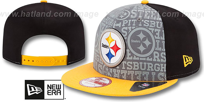 Steelers '2014 NFL DRAFT SNAPBACK' Black-Gold Hat by New Era : pictured without stickers that these products are shipped with