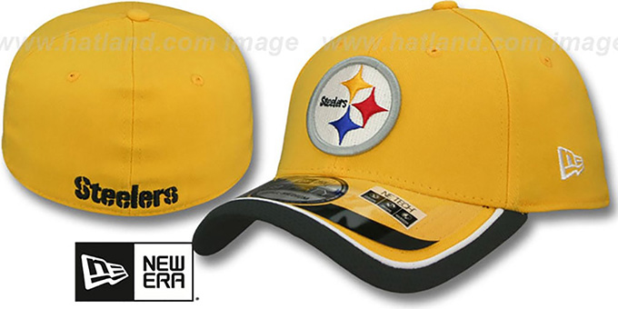 Steelers '2014 NFL STADIUM FLEX' Gold Hat by New Era : pictured without stickers that these products are shipped with