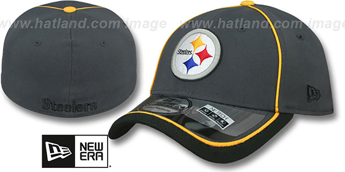 Steelers '2014 NFL STADIUM FLEX' Grey Hat by New Era : pictured without stickers that these products are shipped with