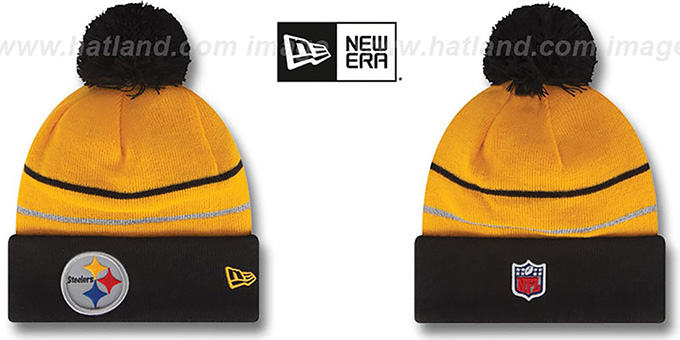Steelers 'THANKSGIVING DAY' Knit Beanie Hat by New Era : pictured without stickers that these products are shipped with