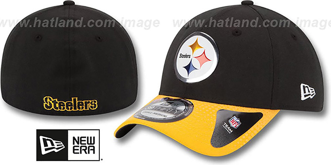 Steelers '2015 NFL DRAFT FLEX'  Hat by New Era : pictured without stickers that these products are shipped with