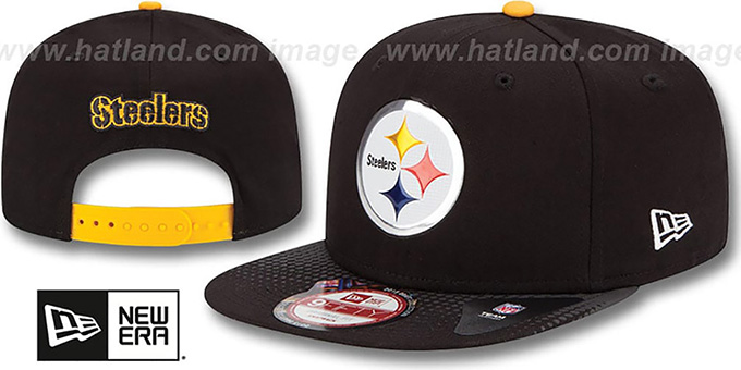 Steelers '2015 NFL DRAFT SNAPBACK' Black Hat by New Era : pictured without stickers that these products are shipped with