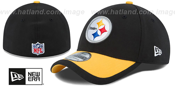 Steelers '2015 NFL STADIUM FLEX' Black-Gold Hat by New Era : pictured without stickers that these products are shipped with