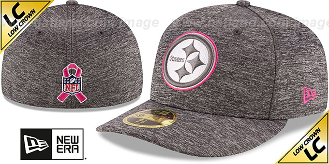 Steelers '2016 LOW-CROWN BCA' Grey Fitted Hat by New Era : pictured without stickers that these products are shipped with