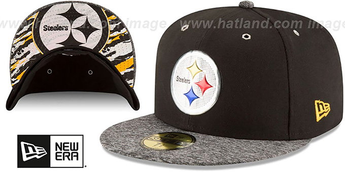 Steelers '2016 NFL DRAFT' Fitted Hat by New Era : pictured without stickers that these products are shipped with
