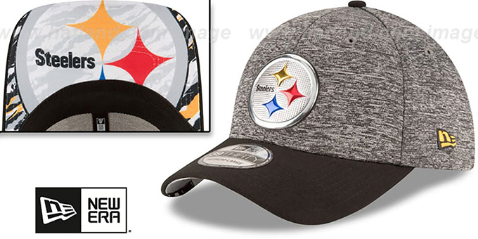 Steelers '2016 NFL DRAFT FLEX' Hat by New Era : pictured without stickers that these products are shipped with