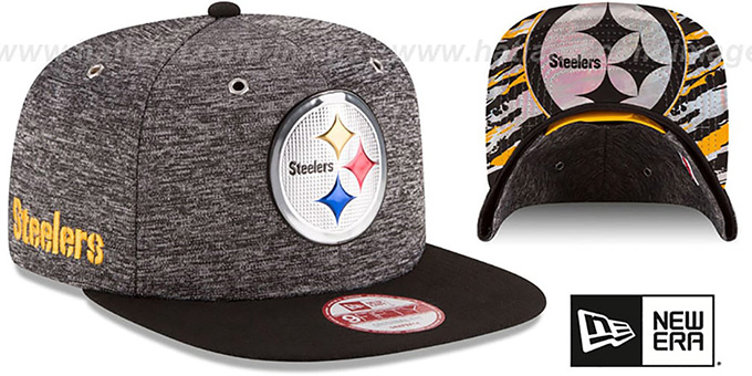 Steelers '2016 NFL DRAFT SNAPBACK' Hat by New Era : pictured without stickers that these products are shipped with