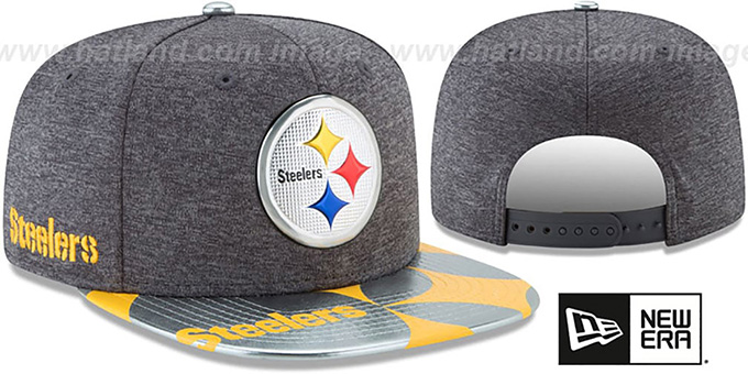 67a677be198 Pittsburgh Steelers 2017 NFL ONSTAGE SNAPBACK Charcoal Hat