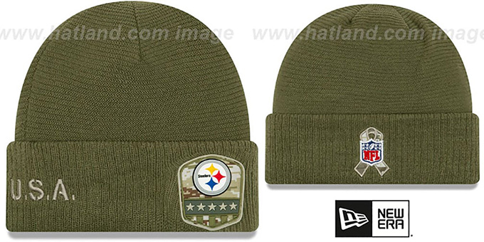 Steelers '2019 SALUTE-TO-SERVICE' Knit Beanie Hat by New Era