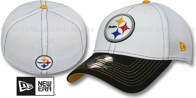 Steelers 'BLITZ NEO FLEX' Hat by New Era : pictured without stickers that these products are shipped with