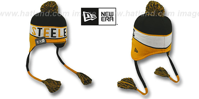 Steelers 'CRAYON BOX' Knit Beanie Hat by New Era : pictured without stickers that these products are shipped with