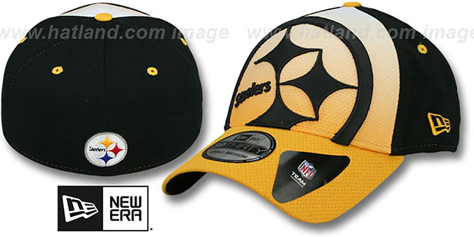 Steelers 'GRADATION FLEX' Hat by New Era : pictured without stickers that these products are shipped with