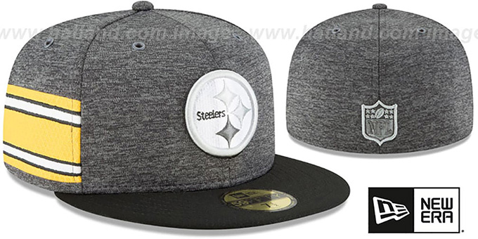 sports shoes 2d351 67da4 Steelers  HOME ONFIELD STADIUM  Charcoal-Black Fitted Hat by ...