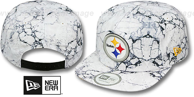 Steelers 'MARBLE MIX SNAPBACK' Hat by New Era : pictured without stickers that these products are shipped with