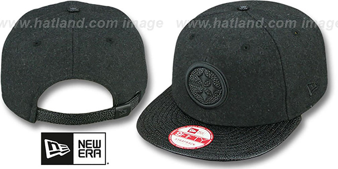 Steelers 'MELTON STINGER STRAPBACK' Hat by New Era : pictured without stickers that these products are shipped with
