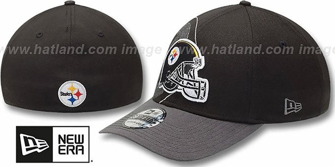 Steelers 'NFL BLACK-CLASSIC FLEX' Hat by New Era : pictured without stickers that these products are shipped with