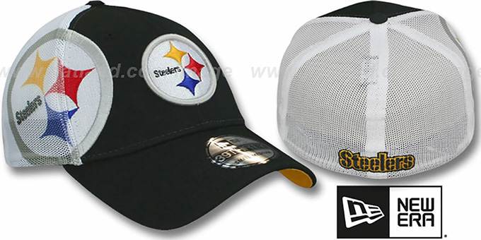 Steelers 'QB SNEAK FLEX' Hat by New Era : pictured without stickers that these products are shipped with