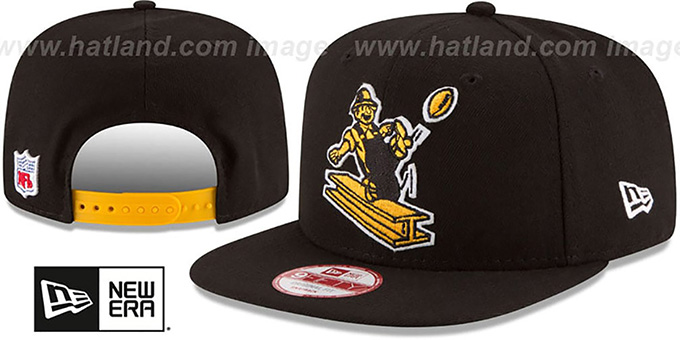 10706bece Steelers  RETRO-BASIC SNAPBACK  Black Hat by New Era