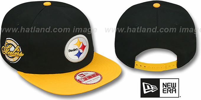 Steelers 'SAID SNAPBACK' Black-Gold Hat by New Era : pictured without stickers that these products are shipped with