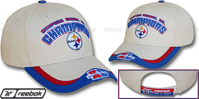 Steelers XL 'SUPERBOWL CHAMPS' Hat by West Coast Novelty : pictured without stickers that these products are shipped with