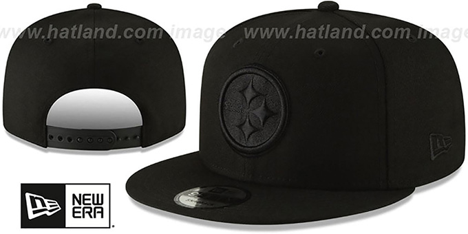 buy popular b1d0e 07351 Steelers 'TEAM-BASIC BLACKOUT SNAPBACK' Hat by New Era