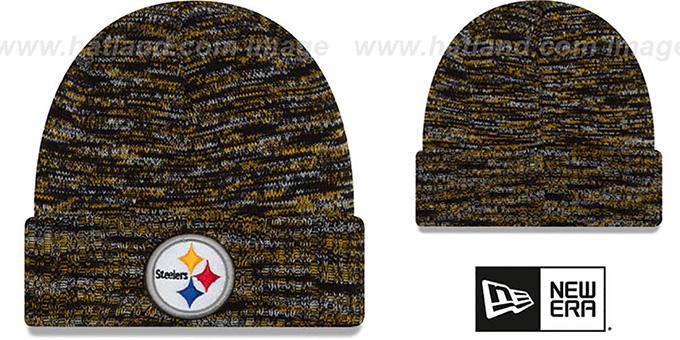 Steelers TEAM-CRAZE Black-Gold Knit Beanie Hat by New Era f82e13a82e1f