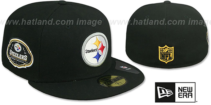 Steelers 'TEAM-SUPERB' Black Fitted Hat by New Era