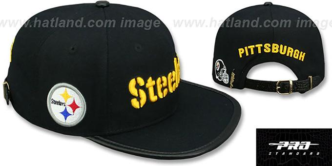 pretty nice a1172 e45c5 Steelers  WORD-MARK STRAPBACK  Black Hat by Pro Standard