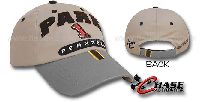 Steve Park 'SPEED LEAGUE' Racing Hat - khaki-grey : pictured without stickers that these products are shipped with
