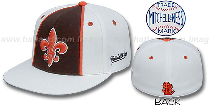 StL Browns 'ALTERNATE ZELLA' Hat by Mitchell and Ness : pictured without stickers that these products are shipped with