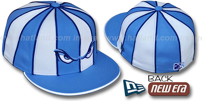 Storm '12-PACK' Baby Blue-White Fitted Hat by New Era : pictured without stickers that these products are shipped with