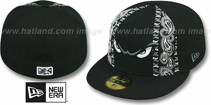 Storm 'BLACK BANDITO' Fitted Hat by New Era : pictured without stickers that these products are shipped with