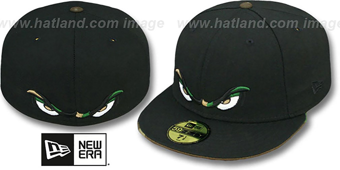 Storm 'CAMO EYES' Black Fitted Hat by New Era : pictured without stickers that these products are shipped with