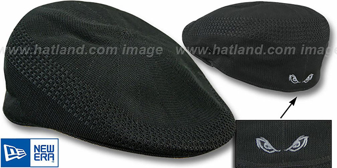 Storm 'PIQUE GATSBY' Black Hat by New Era : pictured without stickers that these products are shipped with