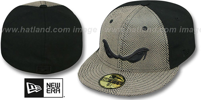 Storm 'RATTLESNAKE' Fitted Hat by New Era : pictured without stickers that these products are shipped with