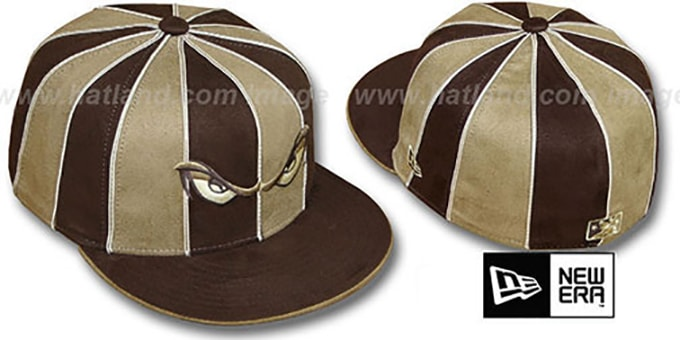 Storm 'SUEDE 12-PACK' Brown-Wheat Fitted Hat by New Era : pictured without stickers that these products are shipped with