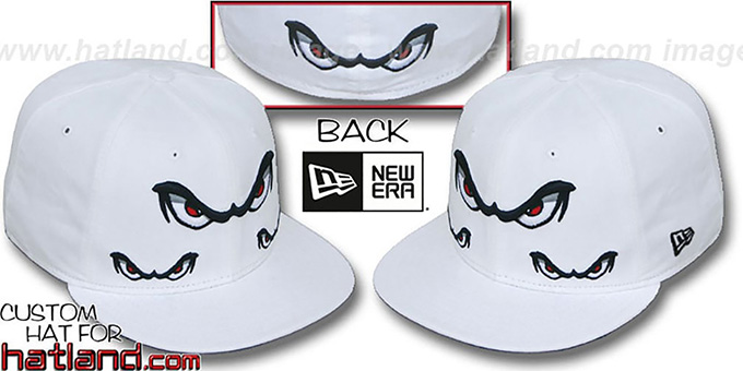 Storm 'TRIPLE THREAT' White Fitted Hat by New Era : pictured without stickers that these products are shipped with